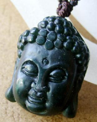Blessing Black Jade Buddha Amulet Pendant Talisman