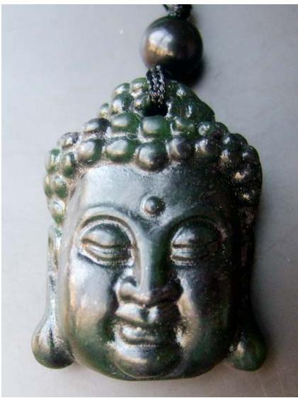 Blessing Black Jade Buddha Amulet Pendant Talisman image 2