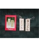 Joy, Noel Double Sided Ornament Filigree White Gold Pair from Dillards - $8.50