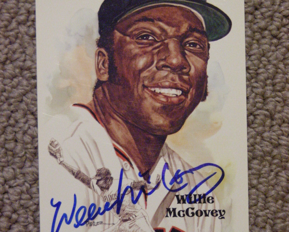 Primary image for WILLIE McCOVEY HOF 1986 69 NL MVP 1959 ROY AUTO SIGNED PEREZ STEELE CARD PSA/DNA