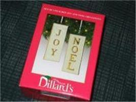 Joy, Noel Double Sided Ornament Filigree White Gold Pair from Dillards image 6