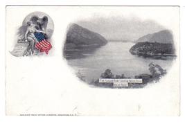 Vintage Patriotic Postcard Souvenir Livingston Hudson image 1