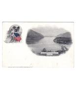 Vintage Patriotic Postcard Souvenir Livingston Hudson - $12.95