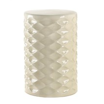 Ivory Faceted Ceramic Stool - $92.99