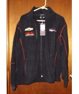 Mens Cavallino Black Hairpin Fleece Jacket Whelen Motorsports Size XL- B... - $28.49