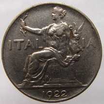 1922 ITALIA ROME COIN Over 85 Years Old Kingdom... - $9.99