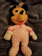 Hasbro Softies Baby Minnie Mouse 8'' -excellent condition- - $11.75