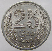 1922 FRANCE CONSOMMER TOKEN Chamber of Commerce 25 Centimes jeton Old Fr... - $14.99