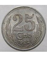 1922 FRANCE CONSOMMER TOKEN Chamber of Commerce 25 Centimes jeton Old Fr... - $14.99
