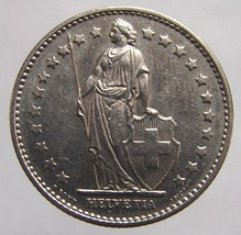 Vintage 30 Years Old 1981 SWISS Switzerland LIBERTY 1 Franc Cooper Nickel Coin - $4.99