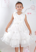 Flower Girl Bridesmaid Party Dress Pink Ivory 2 3 4 5 6 Years - $16.42