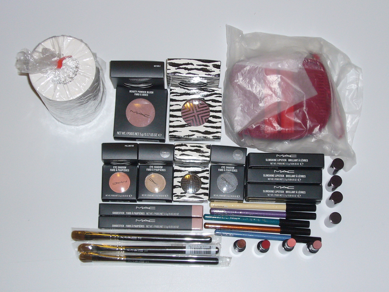 MAC Cosmetic 30 PC Brush Lipstick Eye Shadow Blush Liner Set Bonanza