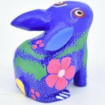 Handmade Oaxacan Alebrijes Painted Wood Folk Art Bunny Rabbit Figurine image 4