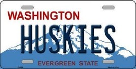 "NCAA Washington Hskies License Plate State Background Metal Tag College U.S.A."" - $10.84"