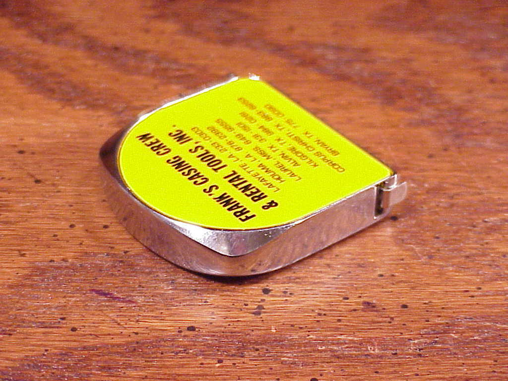 Frank's Casing Crew and Rental Tools Advertising Tape Measure, Texas, LA, Miss