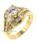 2.2c Russian Ice CZ Stacked 3 Band Bridal Ring Set s 9 - $29.00
