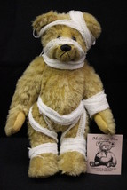 """MULBEARY DEN Tan Jointed """"Owiee"""" Bear, Antique Wool & Guaze Bandages, 9.... - $49.99"""