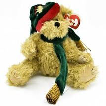 1993 Ty Attic Treasures Spruce Holiday Christmas Teddy Bear Beanbag Plush Toy image 1