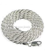 2.5mm Ital Diamond-cut Triple Rope Chain 925 Silver 18 - $38.00
