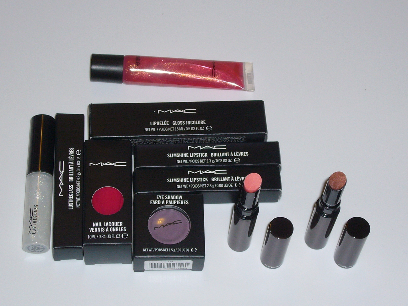 MAC Cosmetics 6 PC Nail Eye Shadow Lipstick Gloss Set Bonanza
