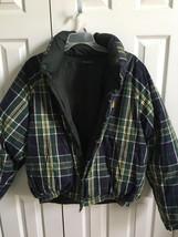 mens winter jacket plaid checkered reversible sz XL - $35.00