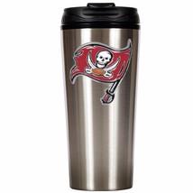 Tampa Bay Buccaneers Primary Logo 16 oz Stainless Steel Travel Mug Tumbl... - $19.95