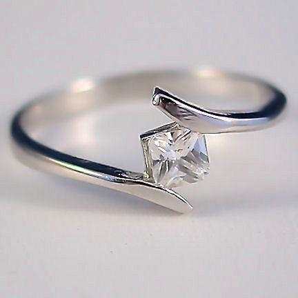 .37ct Princess Cut Russian Ice CZ Promise Band Ring s 8