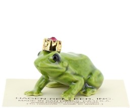 Birthstone Frog Prince January Simulated Garnet Miniatures by Hagen-Renaker