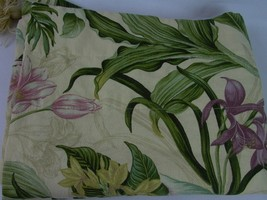 "Waverly V-Shape Valances Tassel Tropical Floral 50"" Butterfly Green line... - $24.35"