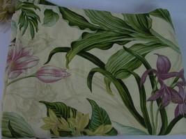 "Waverly V-Shape Valances Tassel Tropical Floral 50"" Butterfly Green line... - $24.35"