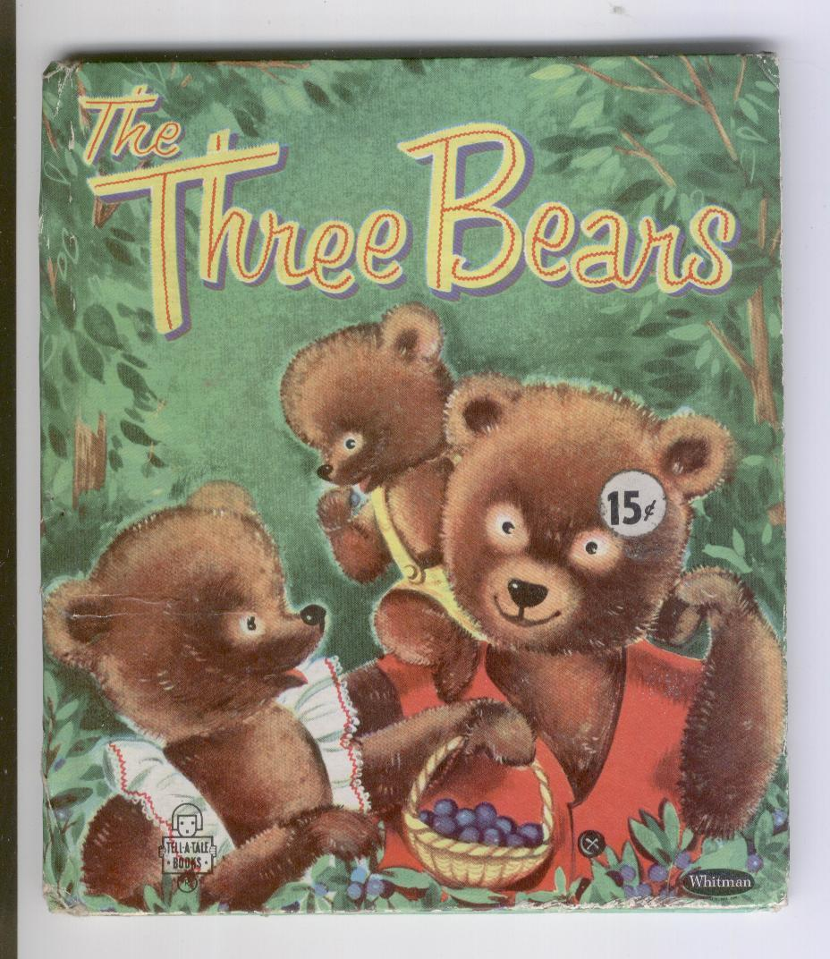 """Whitman Tell-a-Tale1955 """"The Three Bears"""" 2512:15 Suzanne"""