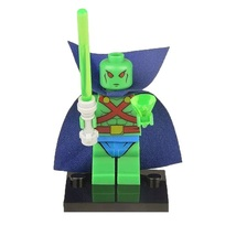 1 Pcs Super Heroes Figure Martian Manhunter With Weapon Fit Lego Buildin... - $6.99
