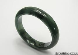 Estate Natural  Dark Green Jadeite Jade Bangle  image 2