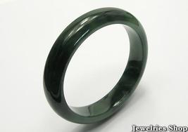 Estate Natural  Dark Green Jadeite Jade Bangle  image 5