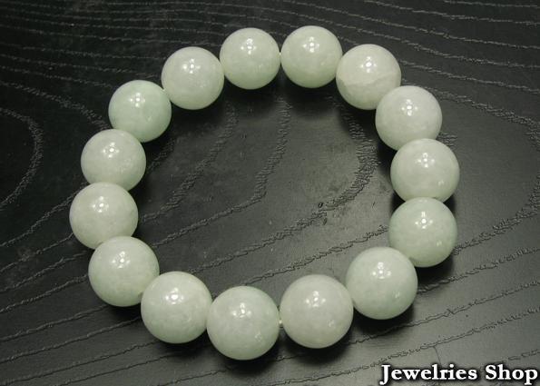A Grade Natural Jade / Jadeite 12mm Beads Bracelet