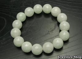 A Grade Natural Jade / Jadeite 12mm Beads Bracelet image 1