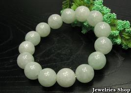 A Grade Natural Jade / Jadeite 12mm Beads Bracelet image 3