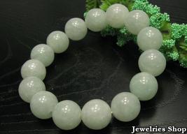 A Grade Natural Jade / Jadeite 12mm Beads Bracelet image 2