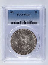1885 Silver Morgan Dollars PCGS Classés Ms 64 - $98.09
