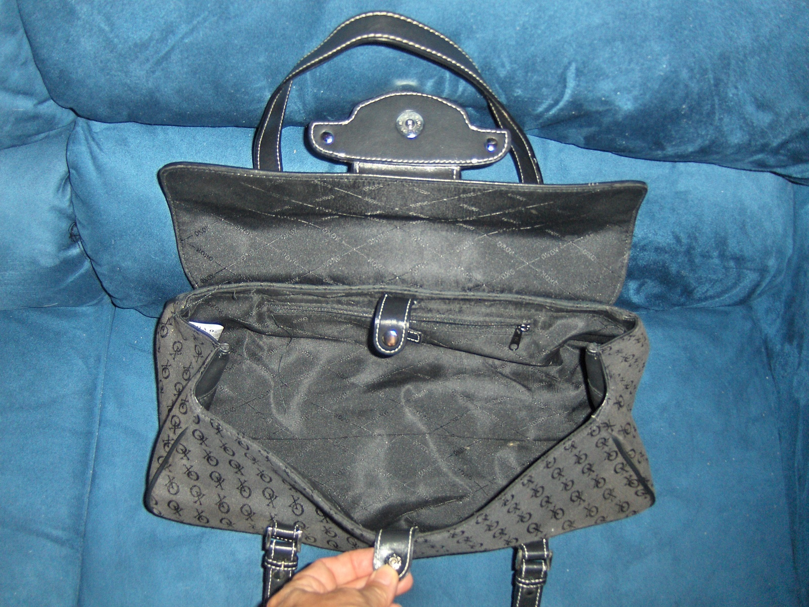 XOXO Satchel Black Signature Logo Purse