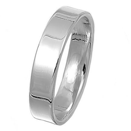 5mm Classic Cigar Band Sterling Silver Wedding Band s 9