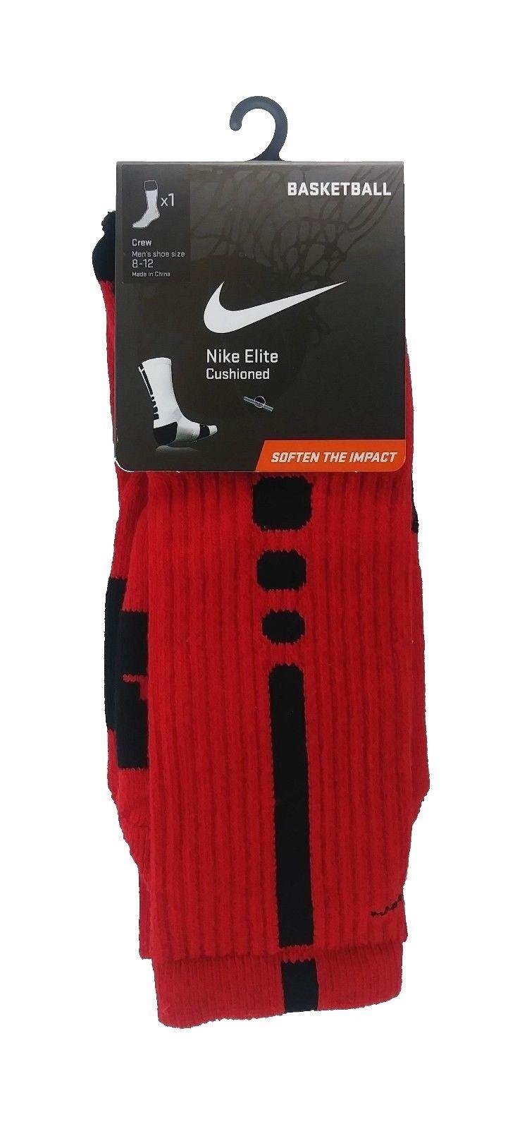 Nike Dry Cushioned Over the Calf Baseball Socks Red Mens Womens Large O11