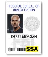 CRIMINAL MINDS DEREK MORGAN NAME BADGE PROP HALLOWEEN COSPLAY MAGNET BACK - $14.84