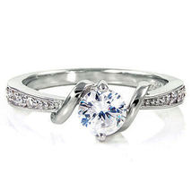 .7cts Russian Ice on Fire CZ Promise Friendship Ring 925 Sterling Silver sz 6 - $27.00