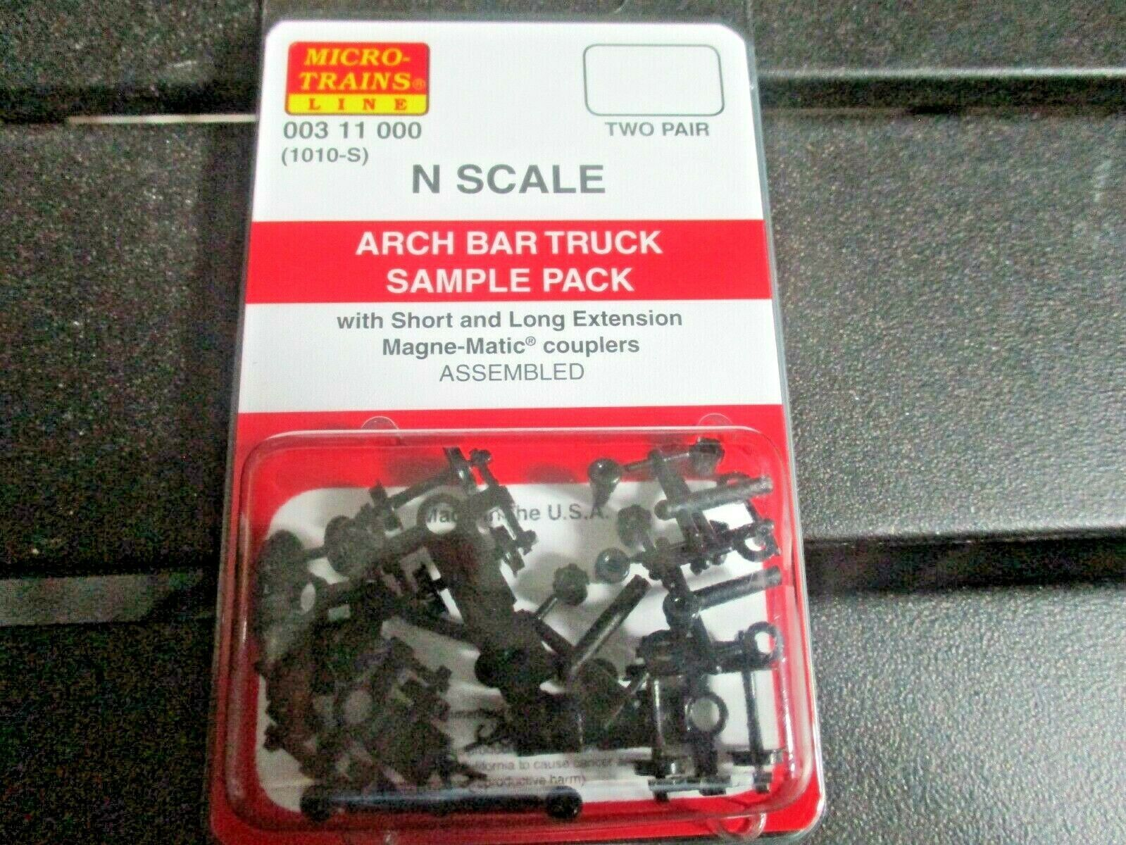 Micro-Trains Stock # 00311000 ARCH BAR Truck Sample Pack Short & Long Extension