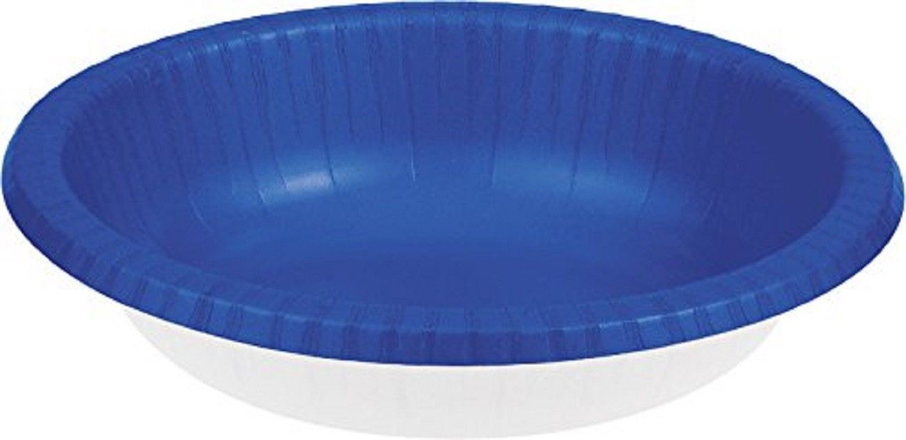 20 Count Paper Bowl, 20 oz Creative Converting Touch of Color - cobalt / royal