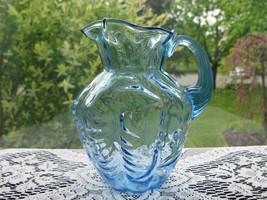 Fenton Vintage Blue Drape Optic Small Pitcher - $25.00