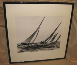 Regatta Monte Carlo Bay Monaco 1935 Sailboat B&W Print LA Photo Factory ... - $499.99