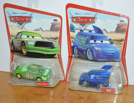 Disney Pixar Cars Dj & Chick Hicks Moc Diecast Toy Cars 2005 Series 1 Mattel - $25.93