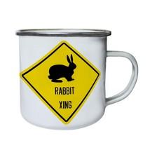 Rabbit Xing Sign Retro,Tin, Enamel 10oz Mug t298e - $13.13